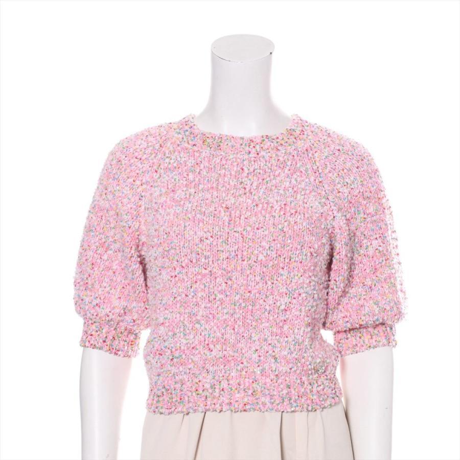 【激安アウトレット!】 シャネル コットン セーター サイズ36 レディース ピンク スパンコール編み込み, 生まれのブランドで eb9e2701