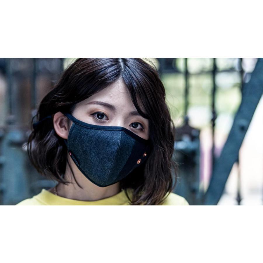 マスク 立体構造 布 洗える 繰り返し デニム 調節可 ユニセックス 小顔効果 おしゃれ やわらか|usutamastore|11