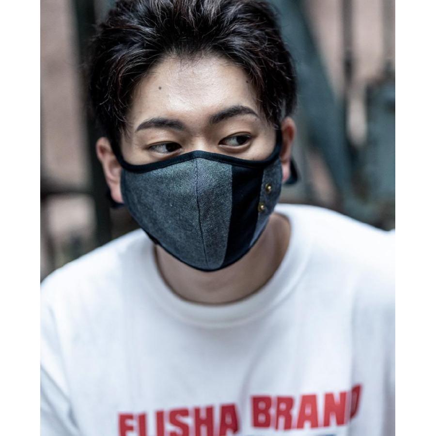 マスク 立体構造 布 洗える 繰り返し デニム 調節可 ユニセックス 小顔効果 おしゃれ やわらか|usutamastore|10