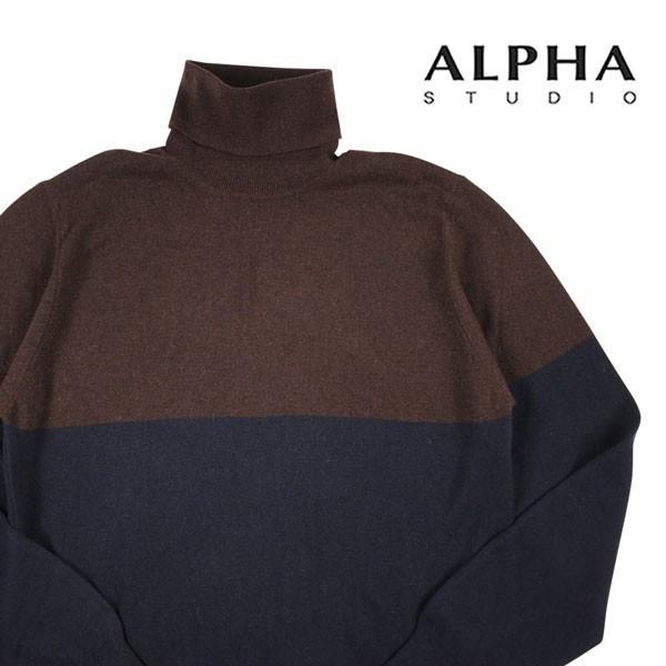 ALPHA STUDIO タートルネックセーター
