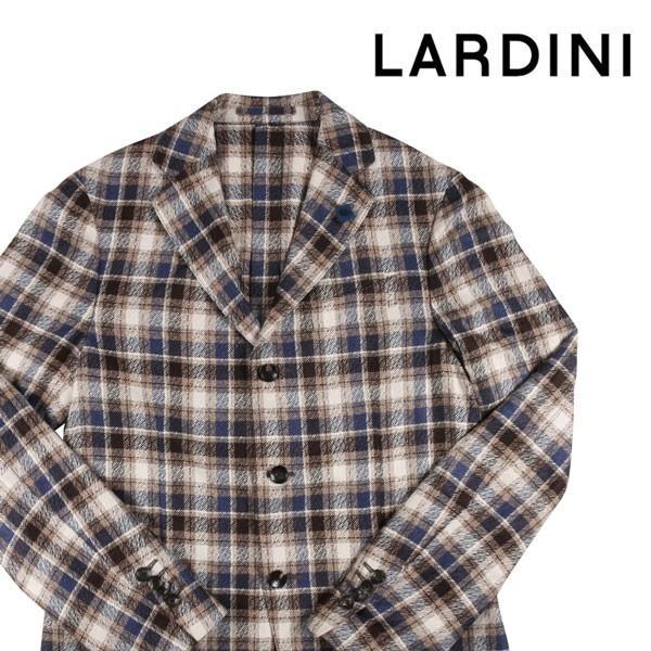 LARDINI シルク100% チェック ジャケット