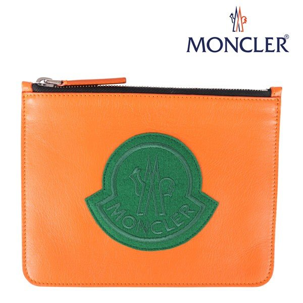 MONCLER(モンクレール) ポーチ POUCH オレンジ x グリーン 【A21622】 utsubostock