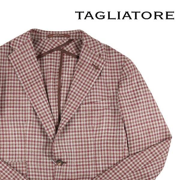 TAGLIATORE(タリアトーレ) ジャケット 1SMC22D ベージュ x ブラウン 50 【S21661】|utsubostock