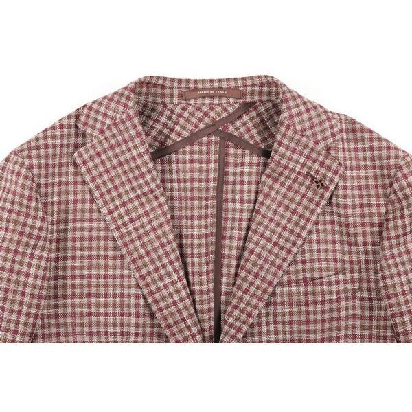 TAGLIATORE(タリアトーレ) ジャケット 1SMC22D ベージュ x ブラウン 50 【S21661】|utsubostock|03