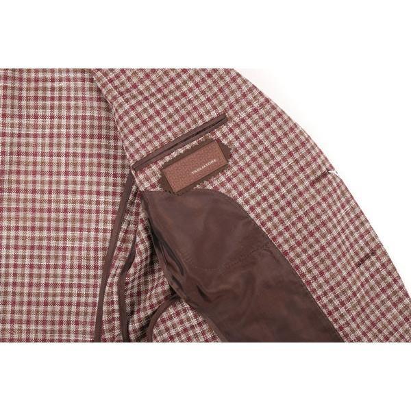 TAGLIATORE(タリアトーレ) ジャケット 1SMC22D ベージュ x ブラウン 50 【S21661】|utsubostock|06