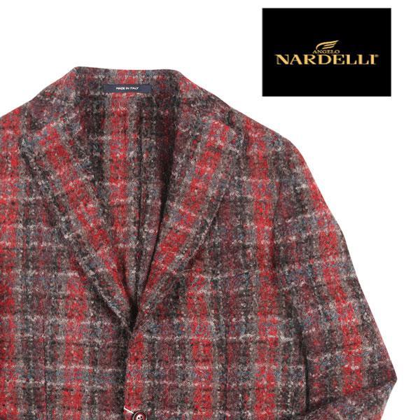 ANGELO NARDELLI(アンジェロナルデッリ) ジャケット 54440 レッド x グレー 48 22488rd 【W22491】|utsubostock