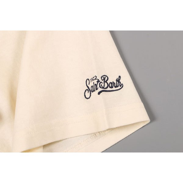 Saint Barth(セントバース) Uネック半袖Tシャツ TSHM001 DLRM11 アイボリー L 24787 【S24787】 utsubostock 04