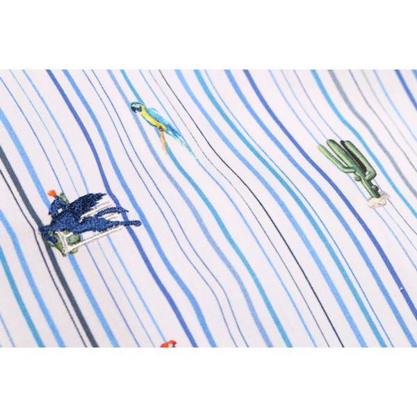 ETRO(エトロ) 長袖シャツ 1K526 5260 ホワイト x ブルー 45 25059 【A25064】|utsubostock|03