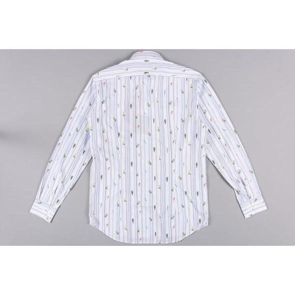 ETRO(エトロ) 長袖シャツ 1K526 5260 ホワイト x ブルー 45 25059 【A25064】|utsubostock|04