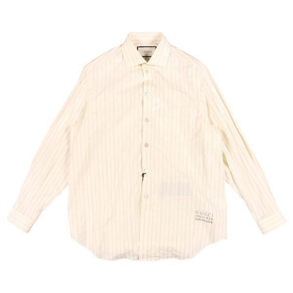 GUCCI(グッチ) 長袖シャツ 574508 オフホワイト x ブラック 50 25167 【A25170】 utsubostock