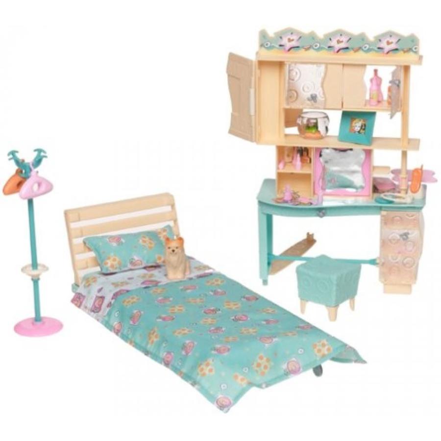 バービー おもちゃ Barbie All Around Home Bedroom Playset - 2 sides of playtime fun 輸入品