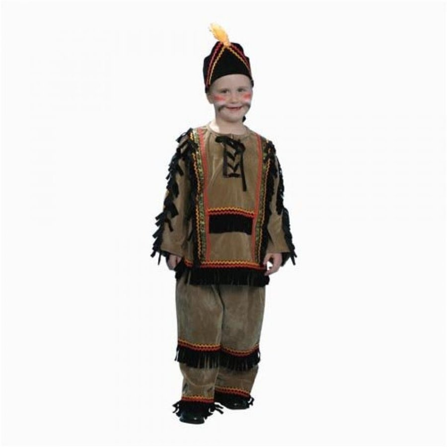 ハロウィン コスプレ 輸入品 Dress Up America Deluxe Indian Boy Costume Set