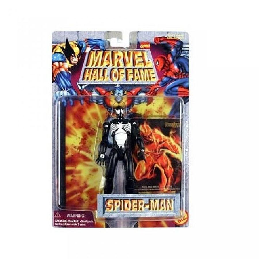 ハロウィン コスプレ 輸入品 Marvel Hall of Fame Spider-Man (黒 Costume) Action Figure by Toy Biz