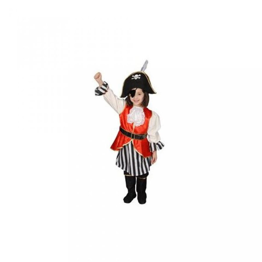 ハロウィン コスプレ 輸入品 Pretend Deluxe Pirate Girl Child Costume Dress-Up Set Size 4-6