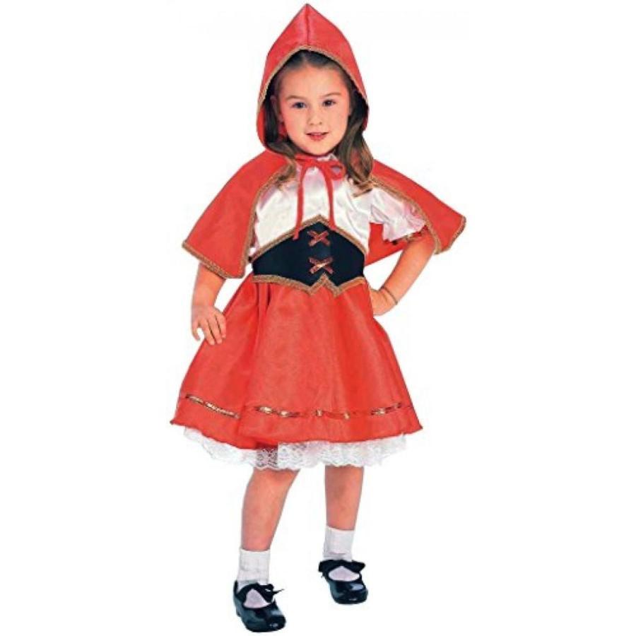 ハロウィン コスプレ 輸入品 Kids Deluxe Lil' 赤 Riding Hood Costume, Small