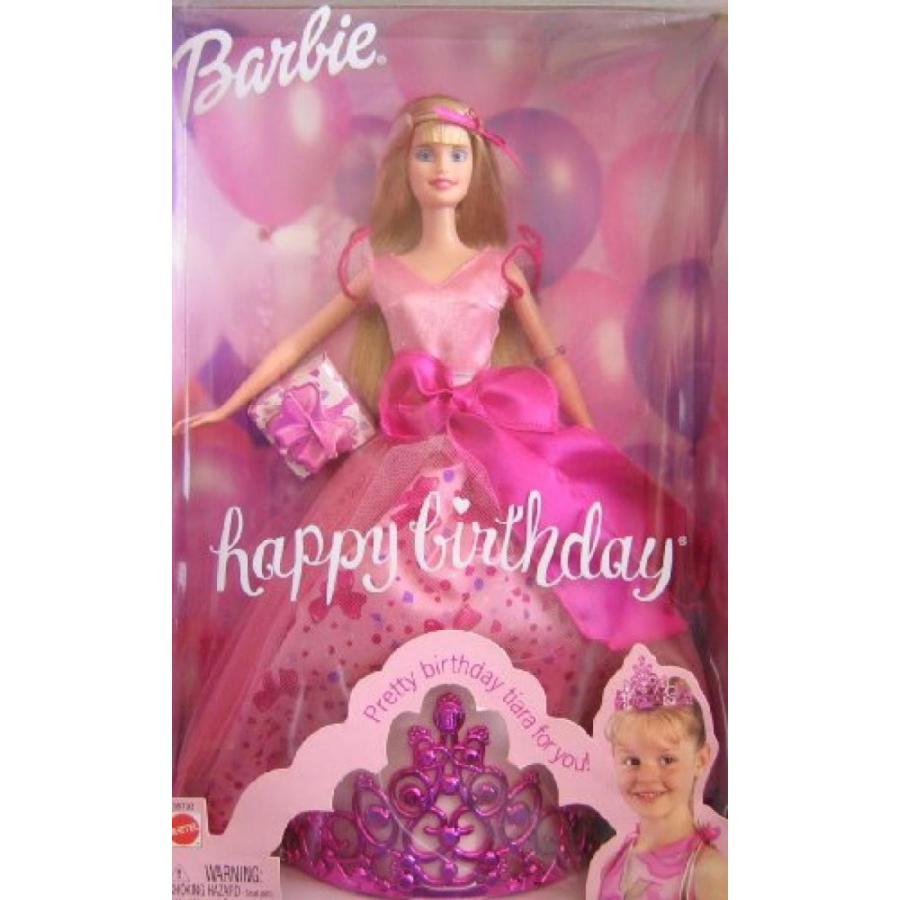 バービー おもちゃ Barbie Happy Birthday Doll w Tiara for You! (2002) 輸入品