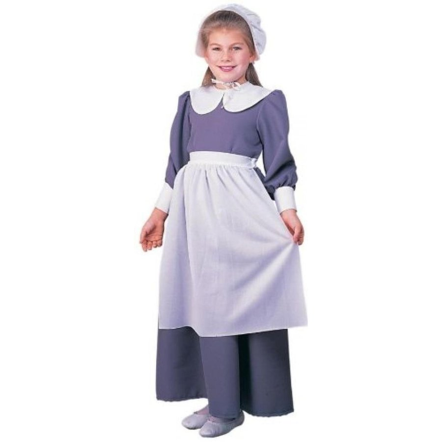 ハロウィン コスプレ 輸入品 Pilgrim Girl Costume, As Shown, Child Small