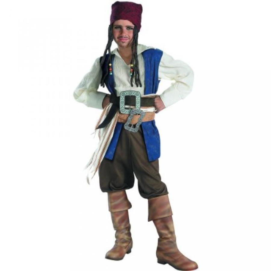 ハロウィン コスプレ 輸入品 Disguise Disney Pirates Of The Caribbean Captain Jack Sparrow Classic Boys Costume