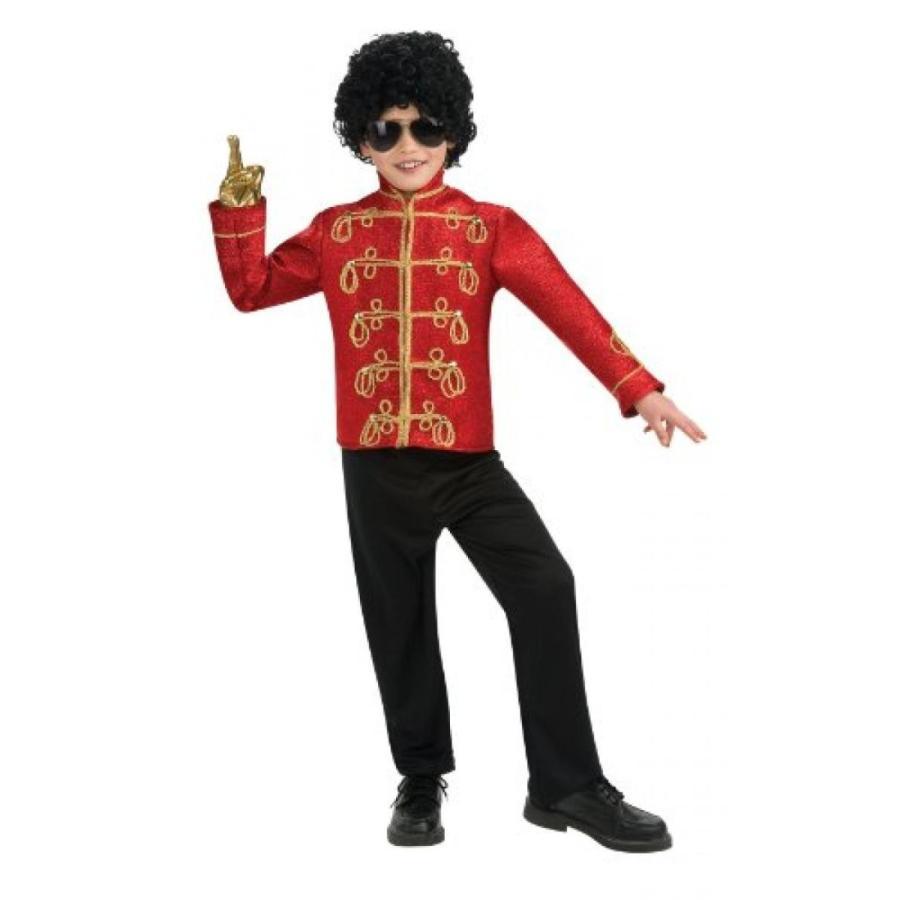 ハロウィン コスプレ 輸入品 Michael Jackson Costume, Child's Deluxe Military Jacket, 赤 Costume