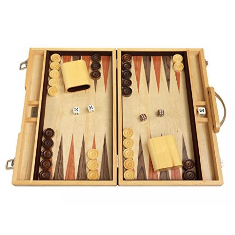 """15"""" Backgammon Board Game Set - Olive Wood Attache Case 輸入品"""