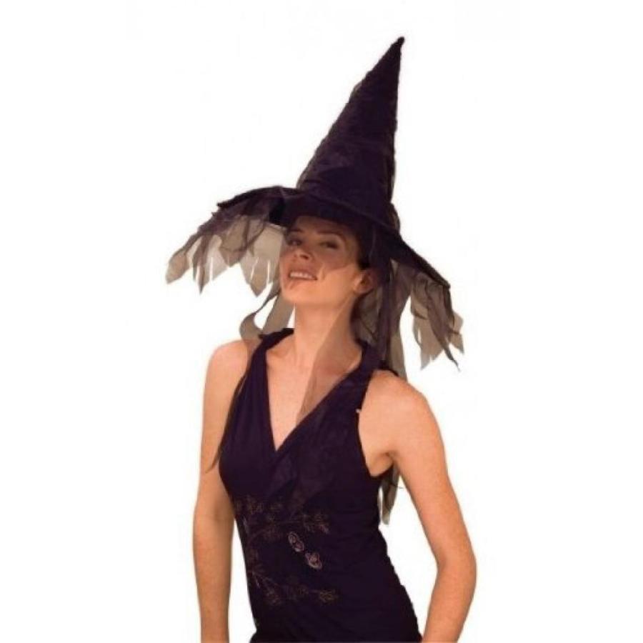ハロウィン コスプレ 輸入品 Rubie's Costume Co Ghost Witch Hat-黒 Costume