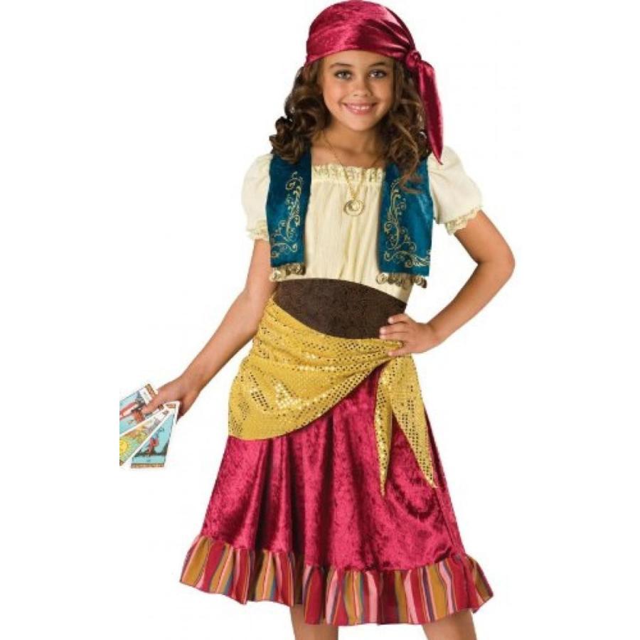 ハロウィン コスプレ 輸入品 InCharacter Costumes Big Girls' Gypsy Dress Set Costume, Multi Color, Medium