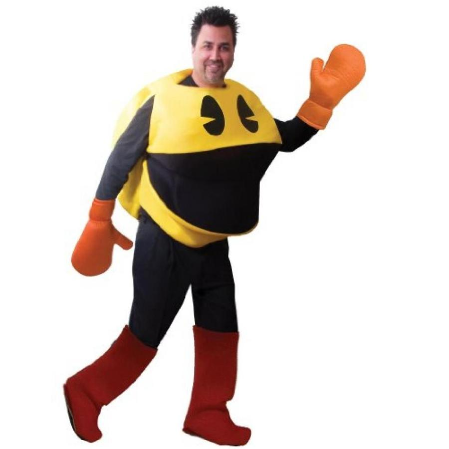 ハロウィン コスプレ 輸入品 Deluxe Adult Pac Man Costume