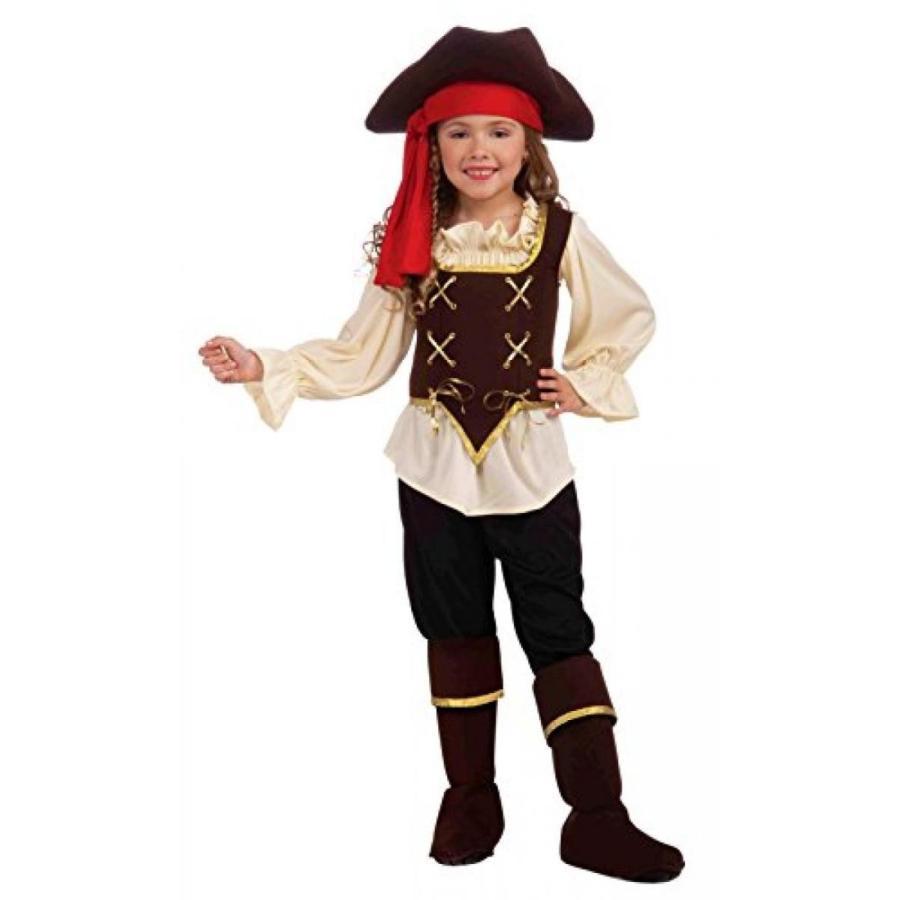 ハロウィン コスプレ 輸入品 Buccaneer Girl Costume, Child Medium