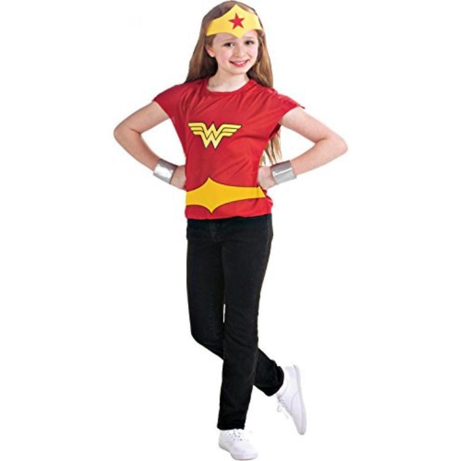 ハロウィン コスプレ 輸入品 Wonder Woman Girls Costume - Child Medium