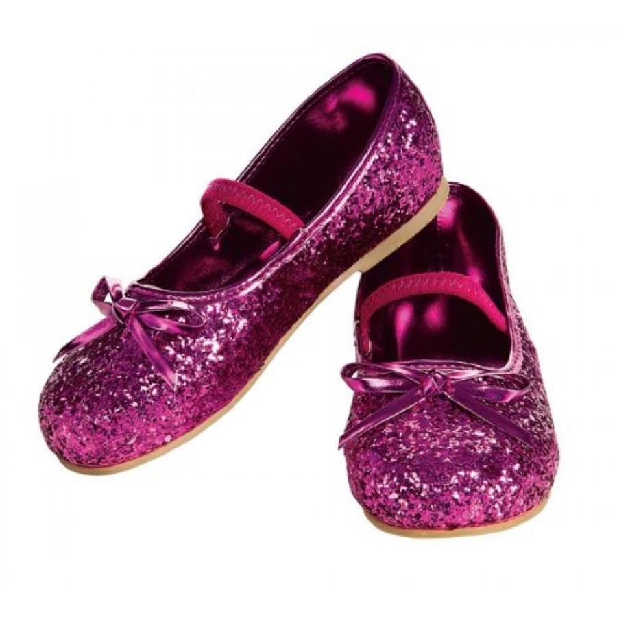 ハロウィン コスプレ 輸入品 Child's Magenta Glitter Costume Flats