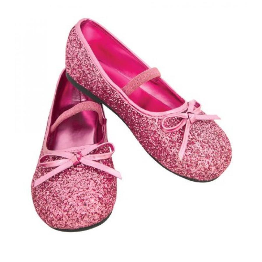 ハロウィン コスプレ 輸入品 Child's ピンク Glitter Costume Flats