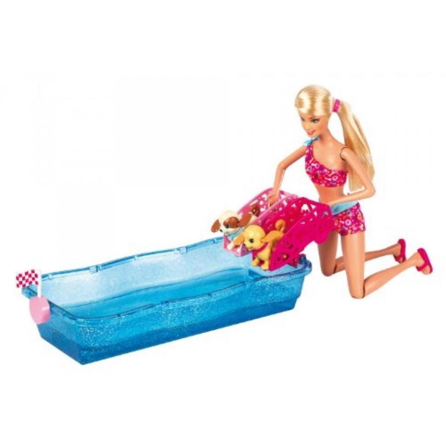 バービー おもちゃ Barbie Swim and Race Pups Playset 輸入品