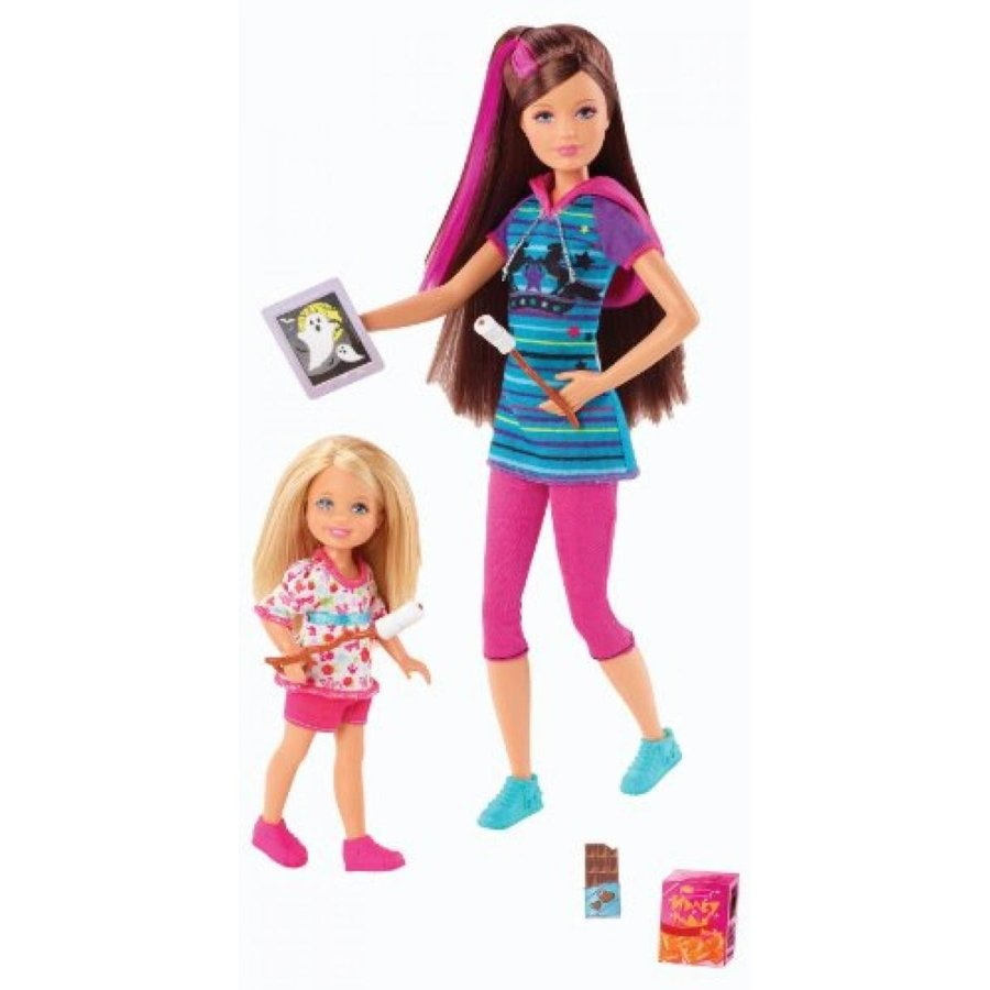 バービー おもちゃ Barbie and Her Sisters in a Pony Tale Skipper and Chelsea Doll, 2-Pack 輸入品