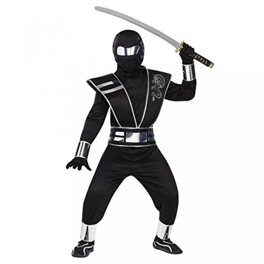 ハロウィン コスプレ 輸入品 Fun World 銀 Mirror Ninja Kids Costume