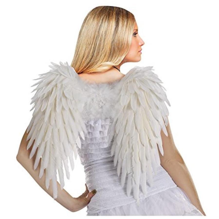 ハロウィン コスプレ 輸入品 Fun World Costumes Women's 白い Deluxe Feather Angel Wings
