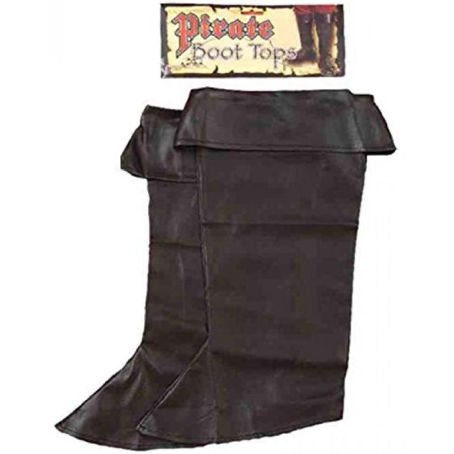 ハロウィン コスプレ 輸入品 Child's 黒 Simulated Leather Pirate Costume Boot Tops