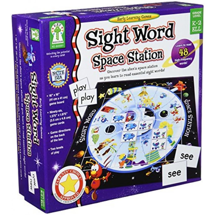 Sight Word Space Station Educational Board Game 輸入品