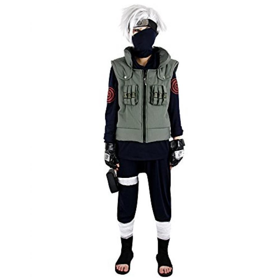 ハロウィン コスプレ 輸入品 Miccostumes Men's Naruto Kakashi Hatake Cosplay Costume