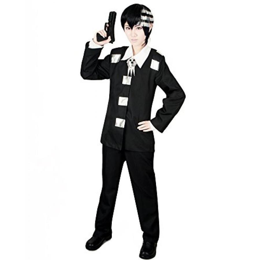 ハロウィン コスプレ 輸入品 Miccostumes Men's Soul Eater Death the Kid Cosplay Costume