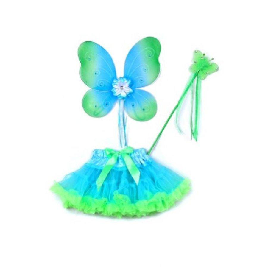 ハロウィン コスプレ 輸入品 Butterfly Wings & Soft Tulle Tutu 5 Colors Toddler Girl Costume Dress Up 2T-5T