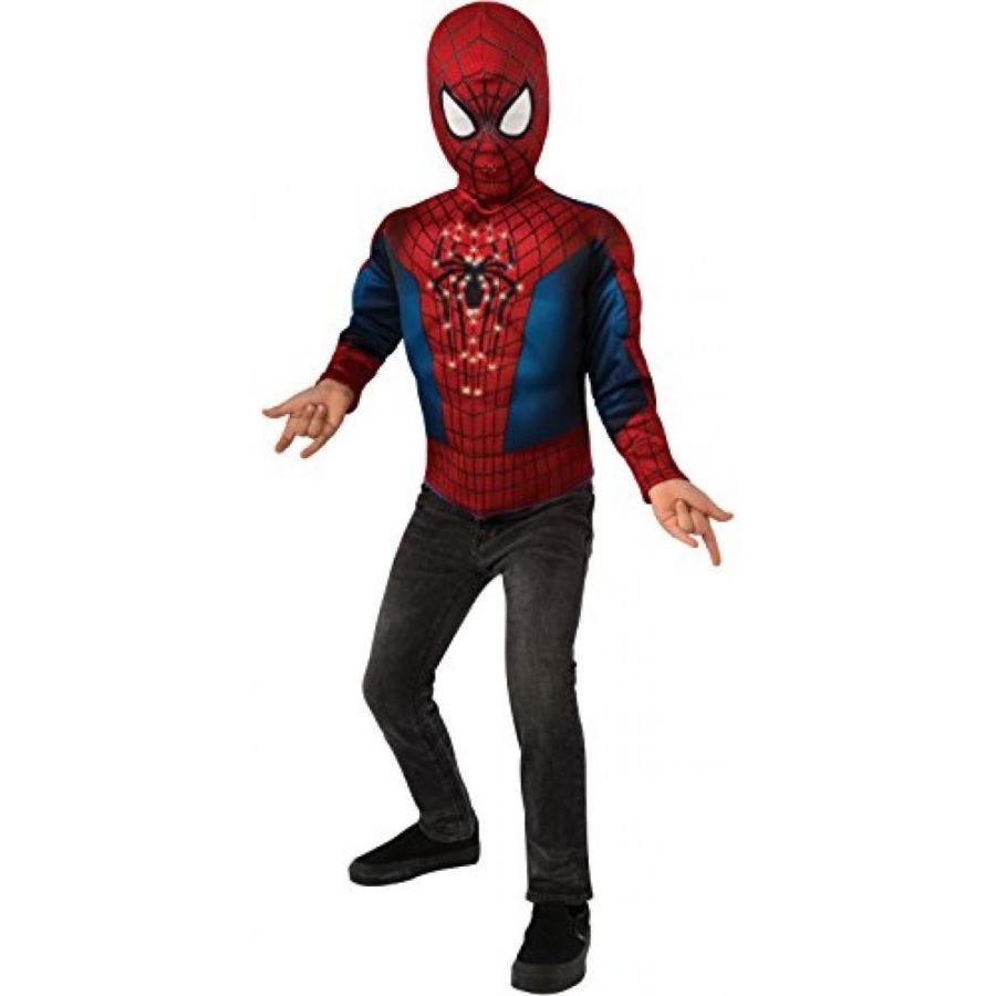 ハロウィン コスプレ 輸入品 The Amazing Spider-man 2, Spider-man Light-Up Costume Top and Mask, Child Standard