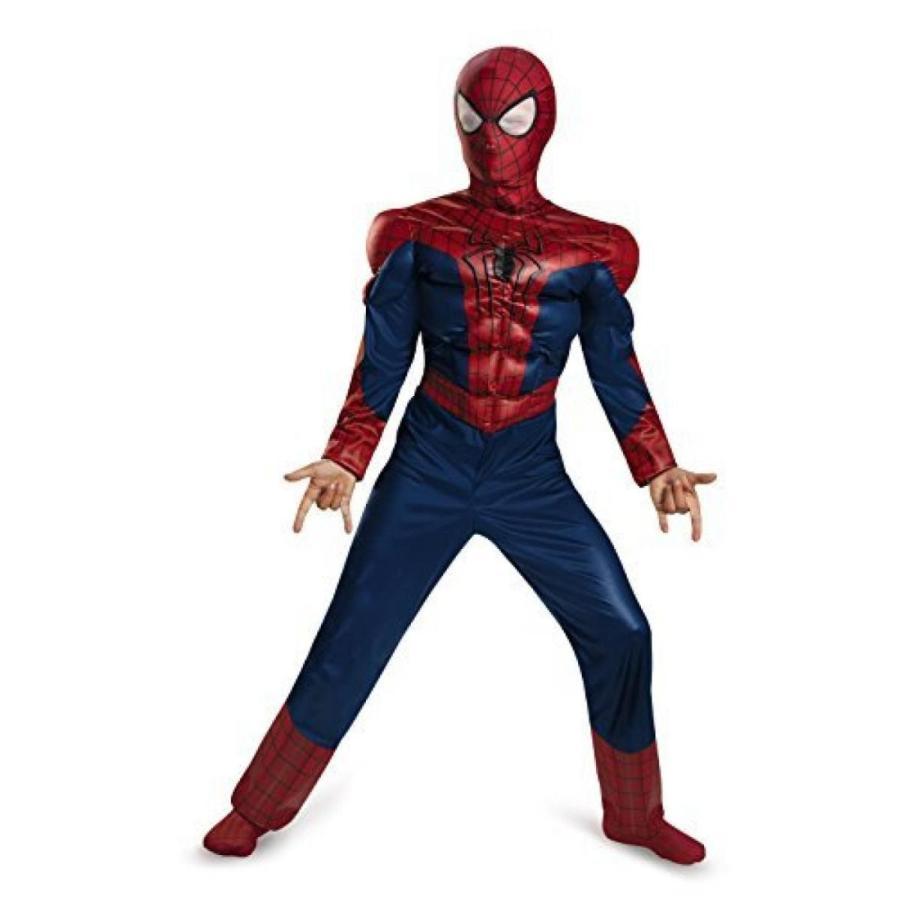 ハロウィン コスプレ 輸入品 Disguise Marvel The Amazing Spider-Man 2 Movie Spider-Man Classic Muscle Boys Costume