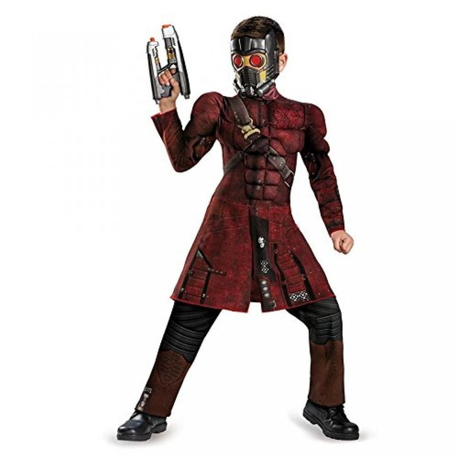 ハロウィン コスプレ 輸入品 Disguise Marvel Guardians of The Galaxy Star-Lord Classic Muscle Boys Costume