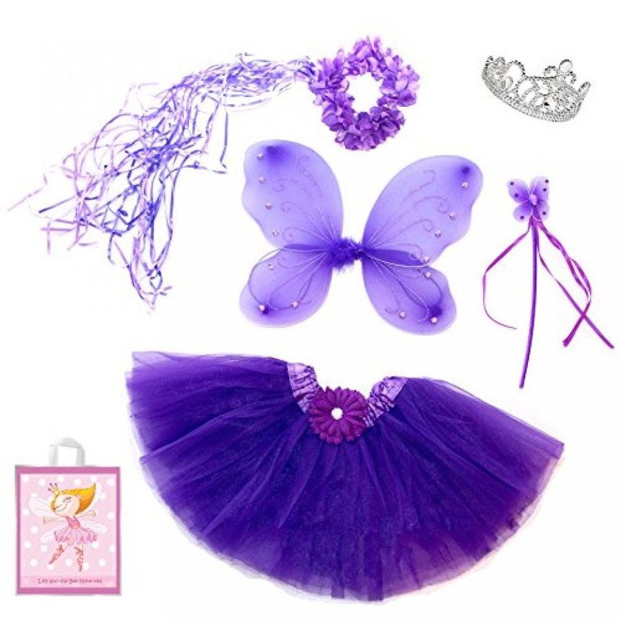 ハロウィン コスプレ 輸入品 5 Piece Sparkle Fairy Princess Costume Set PLUS GIFT BAG