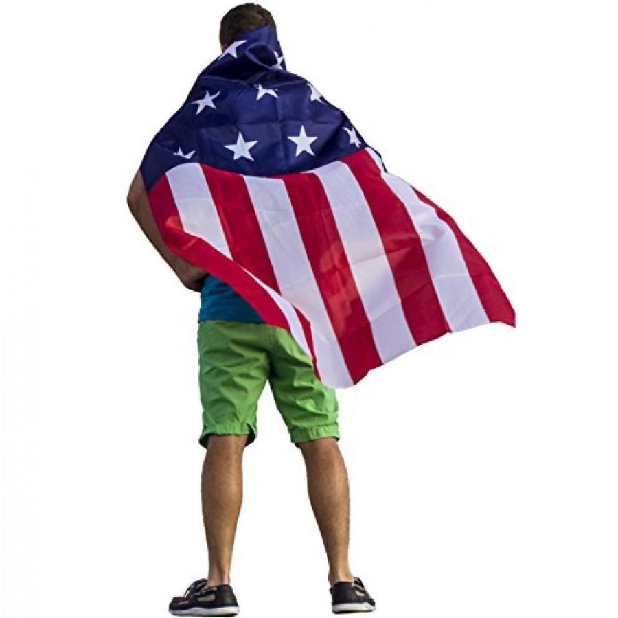 ハロウィン コスプレ 輸入品 FreedomCapes American Flag Cape Costume