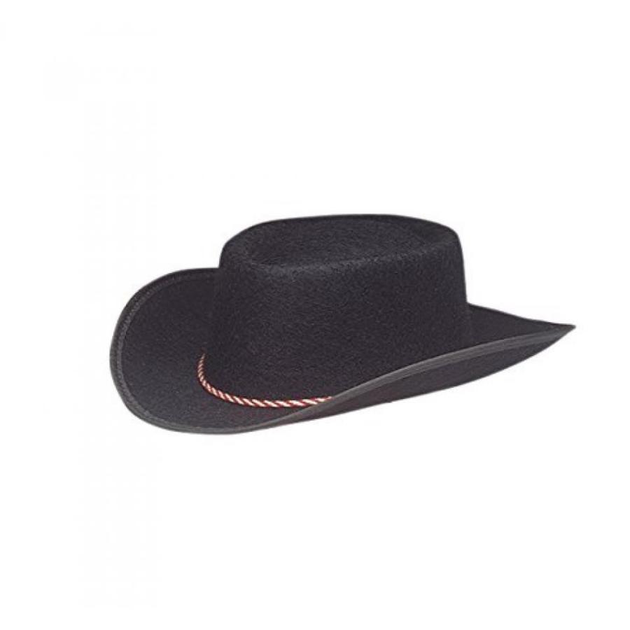 ハロウィン コスプレ 輸入品 Jacobson Hat Company Child Permalux Cowboy Costume, 黒, Medium