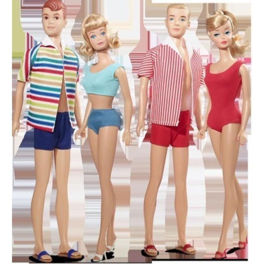 バービー おもちゃ Barbie ゴールド Label Double Date 50th Anniversary Giftset Barbie, Ken, Midge & Allan Fan Club Exclusive 輸入品