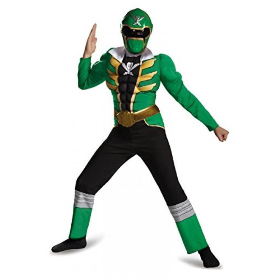 ハロウィン コスプレ 輸入品 Disguise Saban Super MegaForce Power Rangers 緑 Ranger Muscle Boys Costume, SMALL/4-6