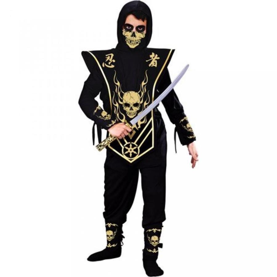 ハロウィン コスプレ 輸入品 Boys ゴールド Skull Lord Ninja with Mask Costume, By Fun World, Boys M (8)