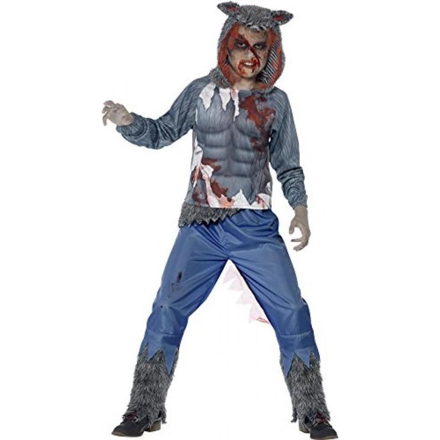 ハロウィン コスプレ 輸入品 Deluxe Wolf Warrior Costume - Medium Age 7-9